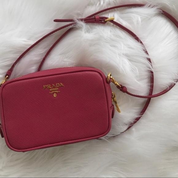 eb9a55878a19 Prada Bags   Camera Bag Saffiano Lipstick Pink   Poshmark